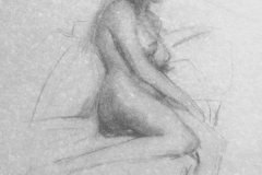 Figure Drawing by Cedric Egeli 24x18_ Value $1500 Starting Bid $300 Courtesy of anonymous private collection